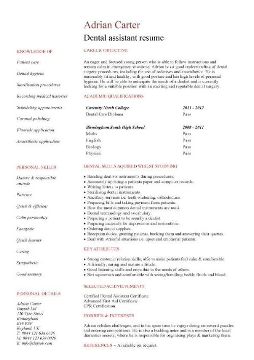student entry level dental assistant resume template objective samples pic freelance Resume Dental Assistant Resume Objective Samples