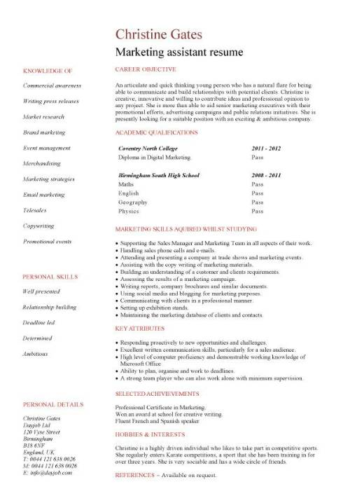 student entry level marketing assistant resume template pic customer service rep civil Resume Marketing Student Resume