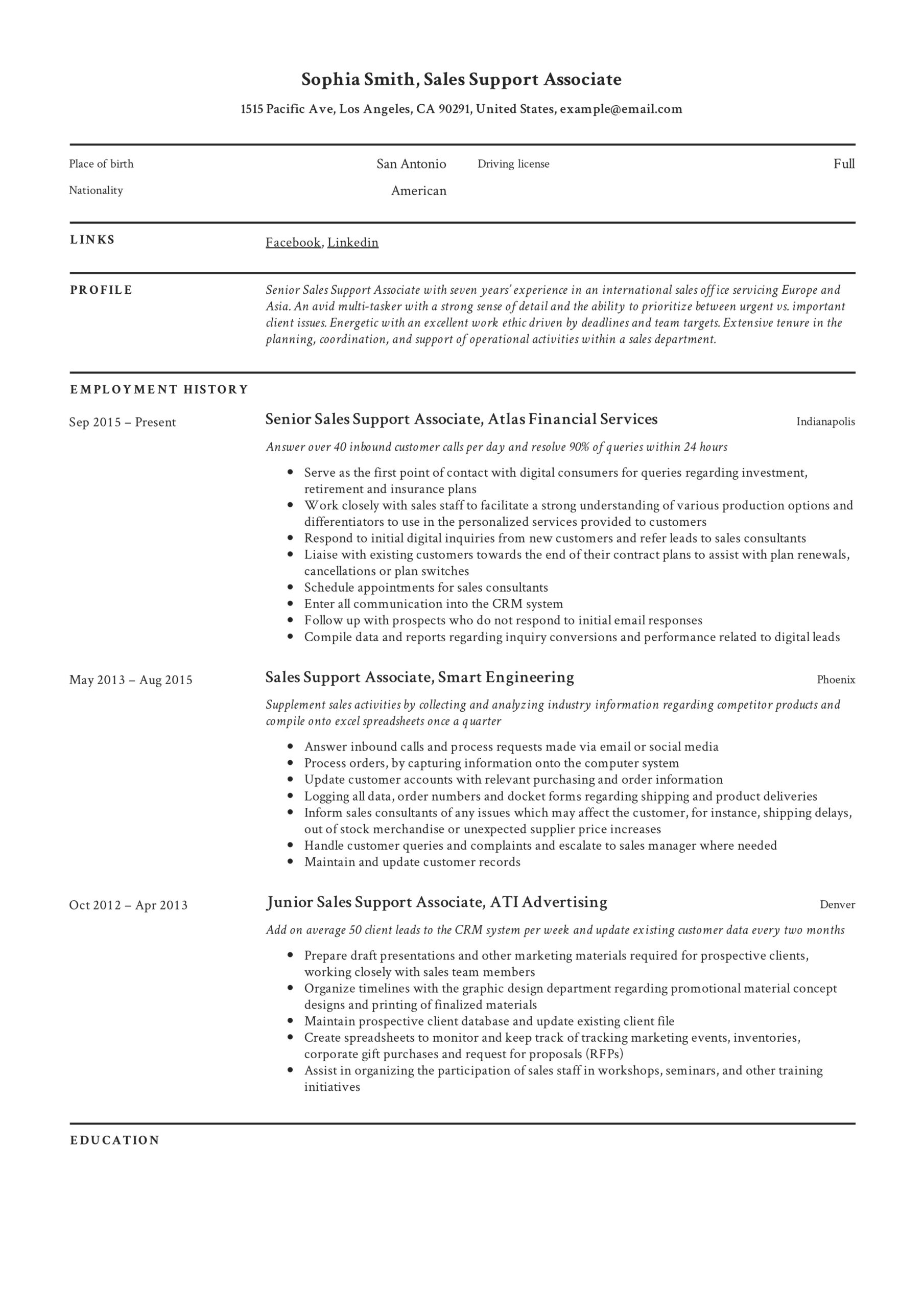 support associate resume guide examples telecommunications keywords example optimal umass Resume Telecommunications Resume Keywords