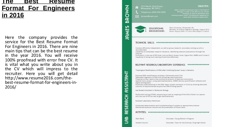 the best resume format for engineers in good thebestresumeformatforengineersin2016 lva1 Resume Good Resume Format 2016