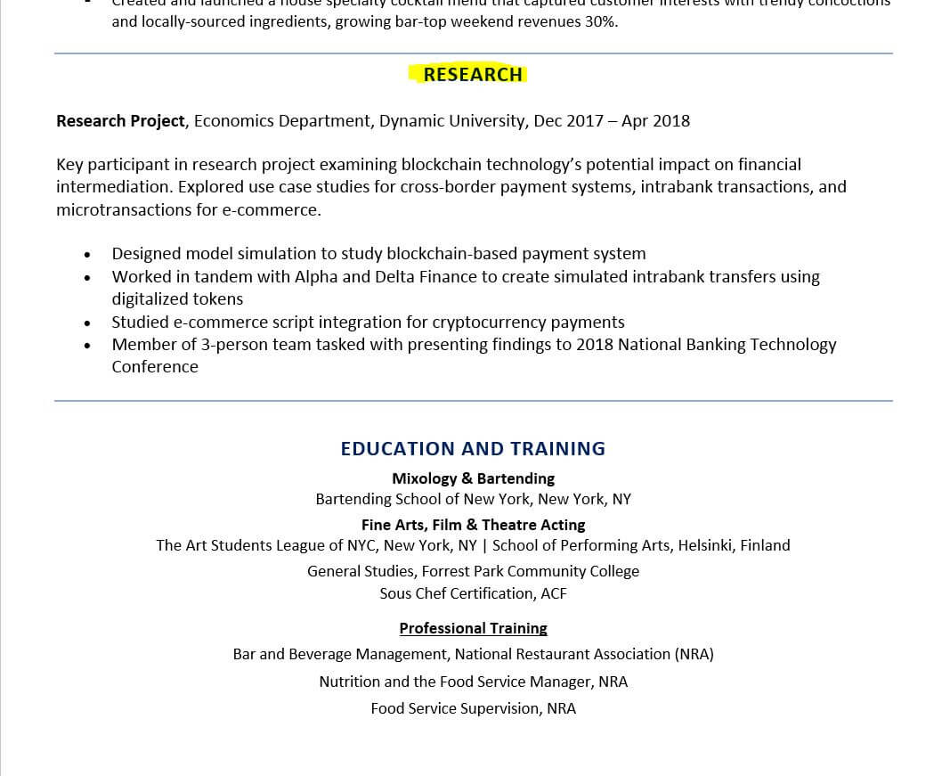 to include research on resume examples and tips with experience example kitchen utility Resume Resume With Research Experience