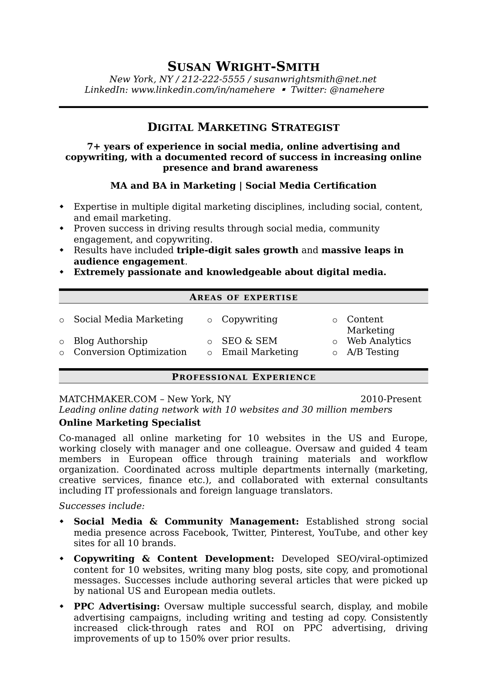 to write marketing resume hiring managers notice free templates samples student digital Resume Marketing Student Resume