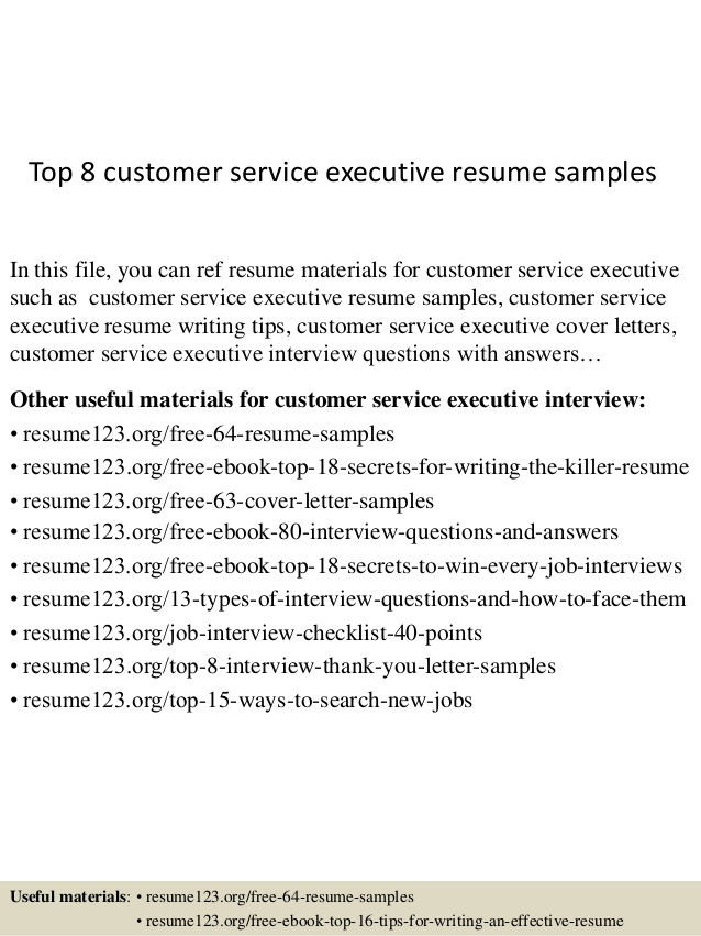 top customer service executive resume samples format for experienced high school examples Resume Resume Format For Experienced Customer Service Executive