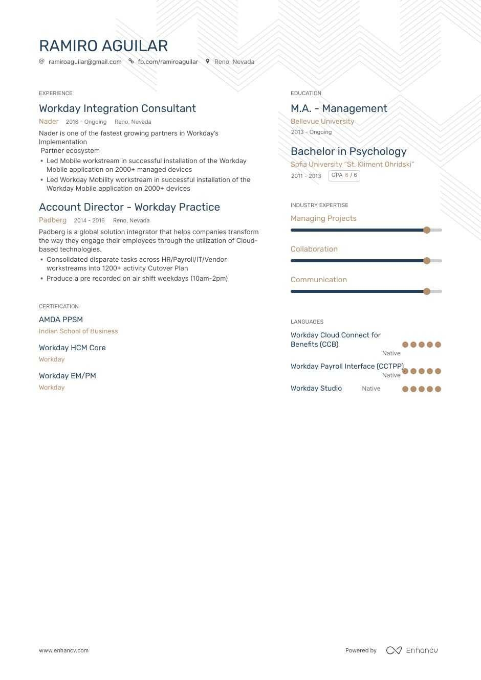 top workday resume examples samples for enhancv consultant hd images onboarding Resume Workday Consultant Resume