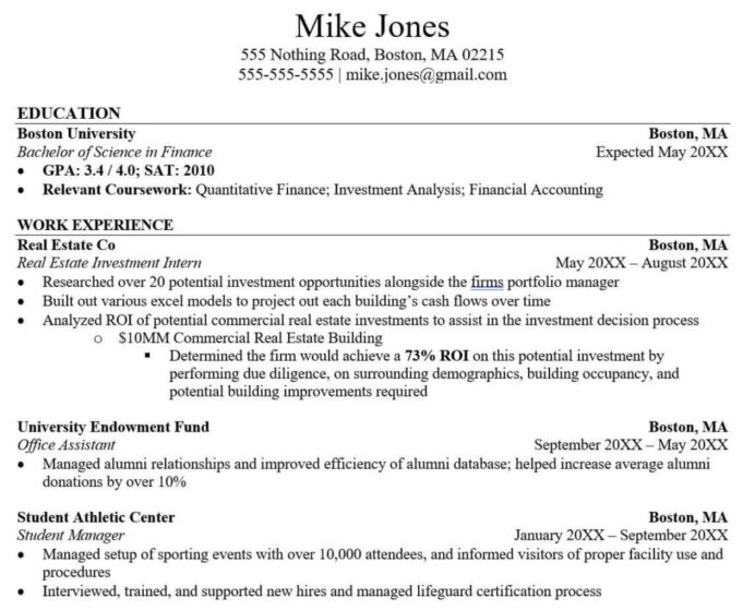 tricks to hack your investment banking resume with no experience relevant spun 1024x827 Resume Relevant Experience Resume