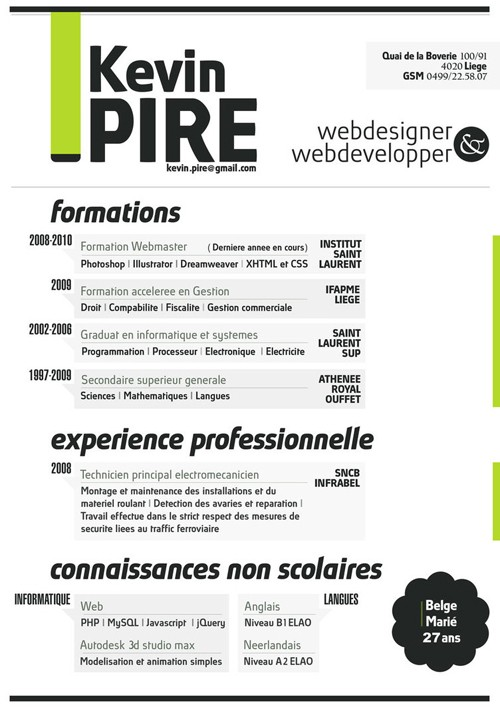 truly creative resume designs for inspiration headings by kevinpire industry specific Resume Creative Resume Headings