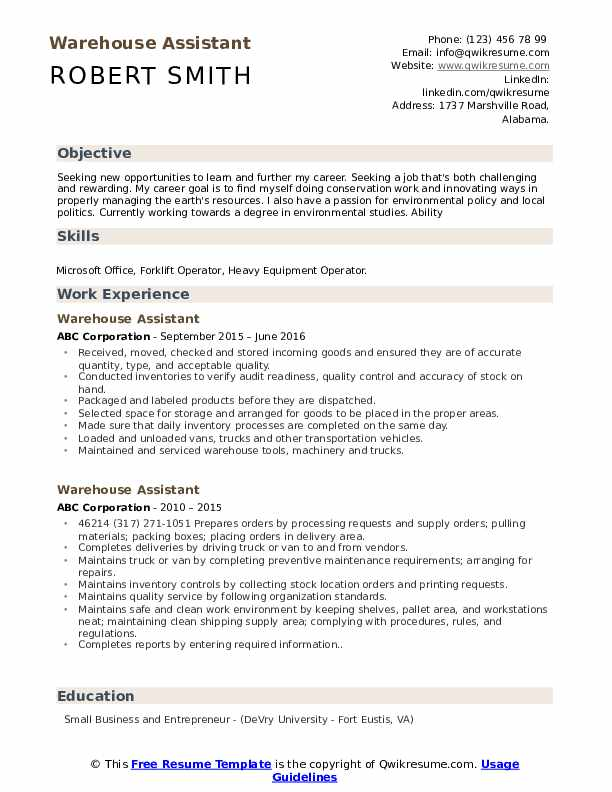 warehouse assistant resume samples qwikresume sample examples pdf crisis intervention Resume Warehouse Resume Sample Examples