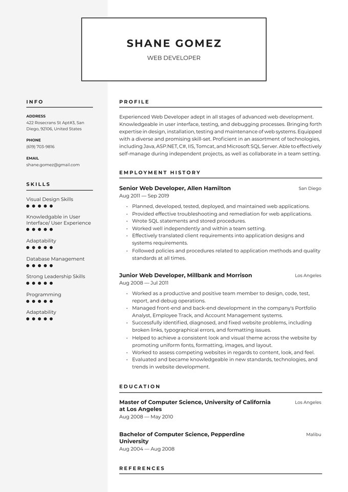 web developer resume examples writing tips free guide io fresher warehouse material Resume Web Developer Resume Fresher