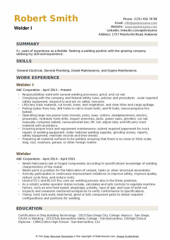 welder resume samples qwikresume duties and responsibilities pdf putting references on Resume Welder Duties And Responsibilities Resume