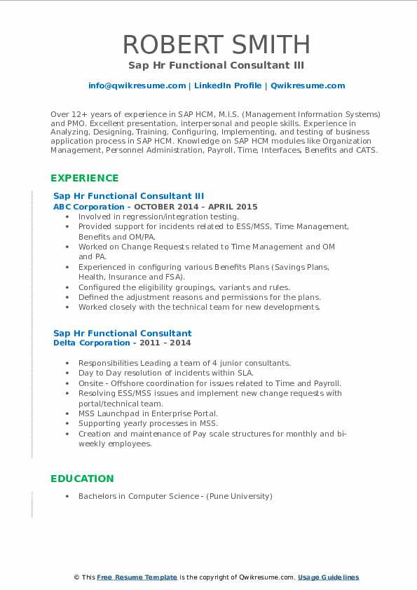 workday hcm functional consultant jobs sap hr resume samples qwikresume pdf consulting Resume Workday Consultant Resume