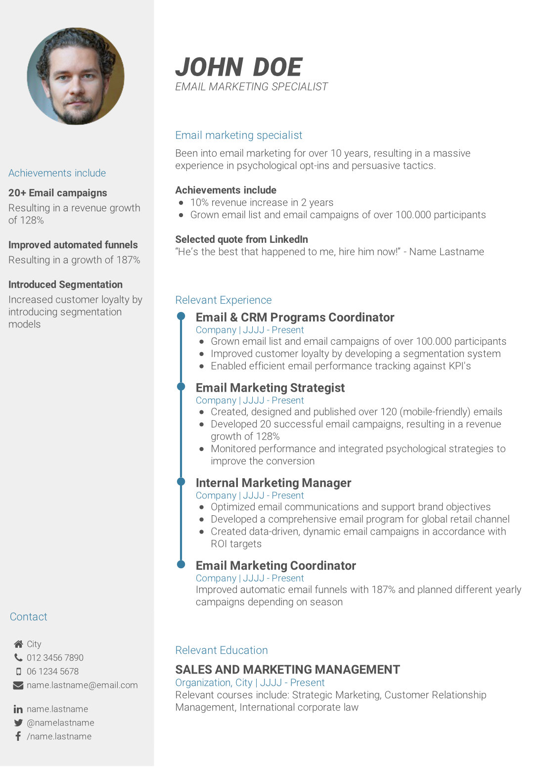 write powerful cv summary to template achievement based resume performance format should Resume Achievement Based Resume Template