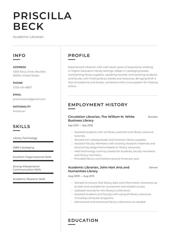 academic librarian resume examples writing tips free guide io sample mentor creative Resume Librarian Resume Sample