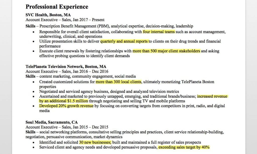 account executive resume writing tips companion sample for client service highlights Resume Sample Resume For Client Service Executive