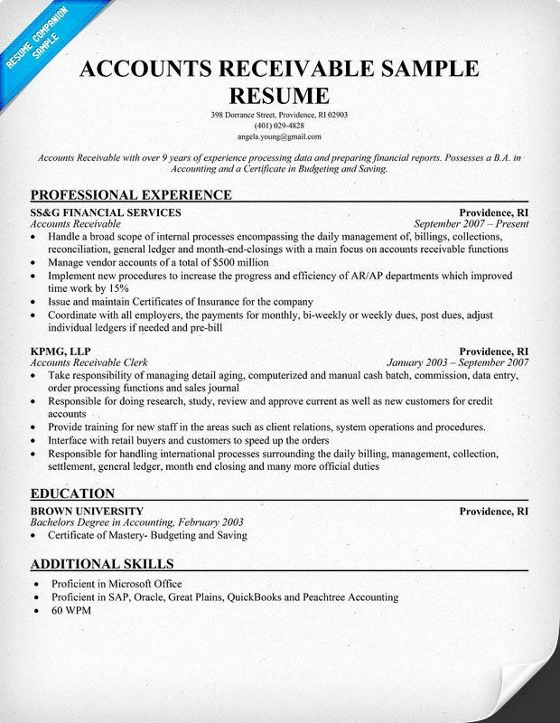 account receivable clerk resume inspirational accounts example panion in good examples Resume Sap Accounts Receivable Resume