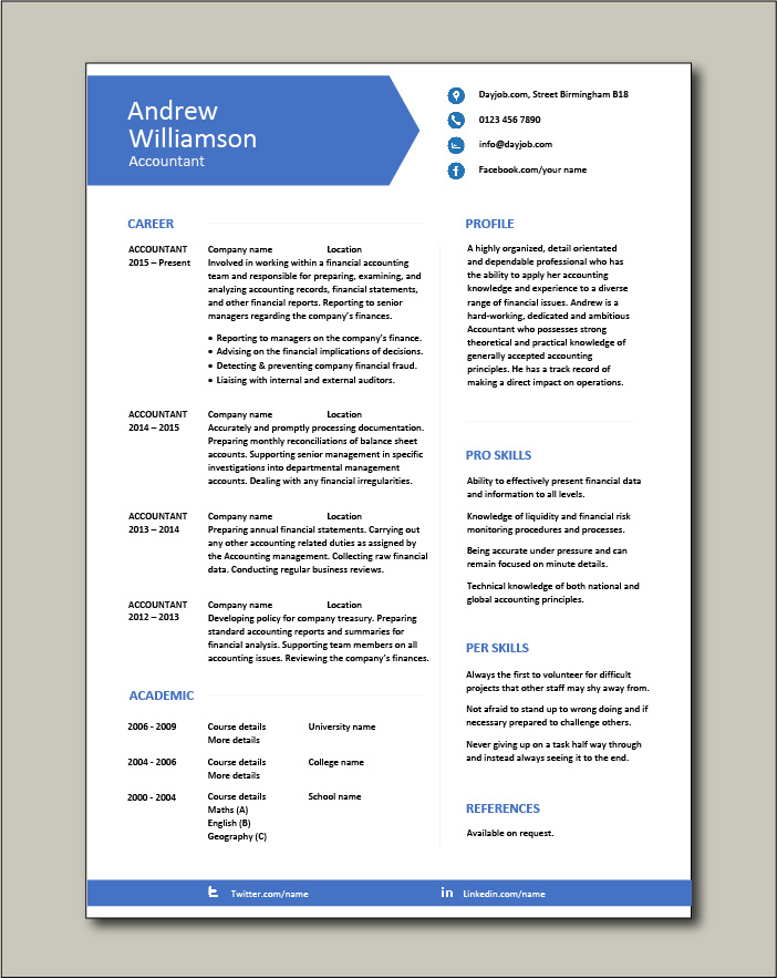 accountant resume example accounting job description template payroll career history Resume Chartered Accountant Resume Format Download