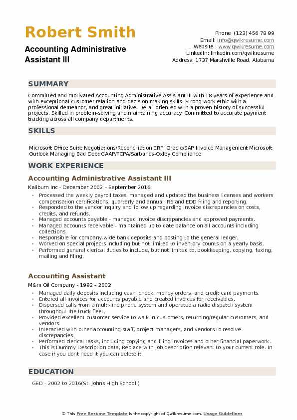 accounting administrative assistant resume samples qwikresume summary example for an pdf Resume Resume Summary Example For An Administrative Assistant