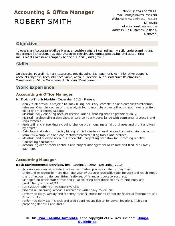 accounting office manager resume samples qwikresume financial management objective pdf Resume Financial Management Resume Objective