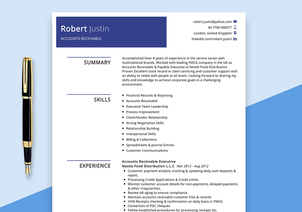 accounts receivable resume example maxresumes sap account index of performance template Resume Sap Accounts Receivable Resume