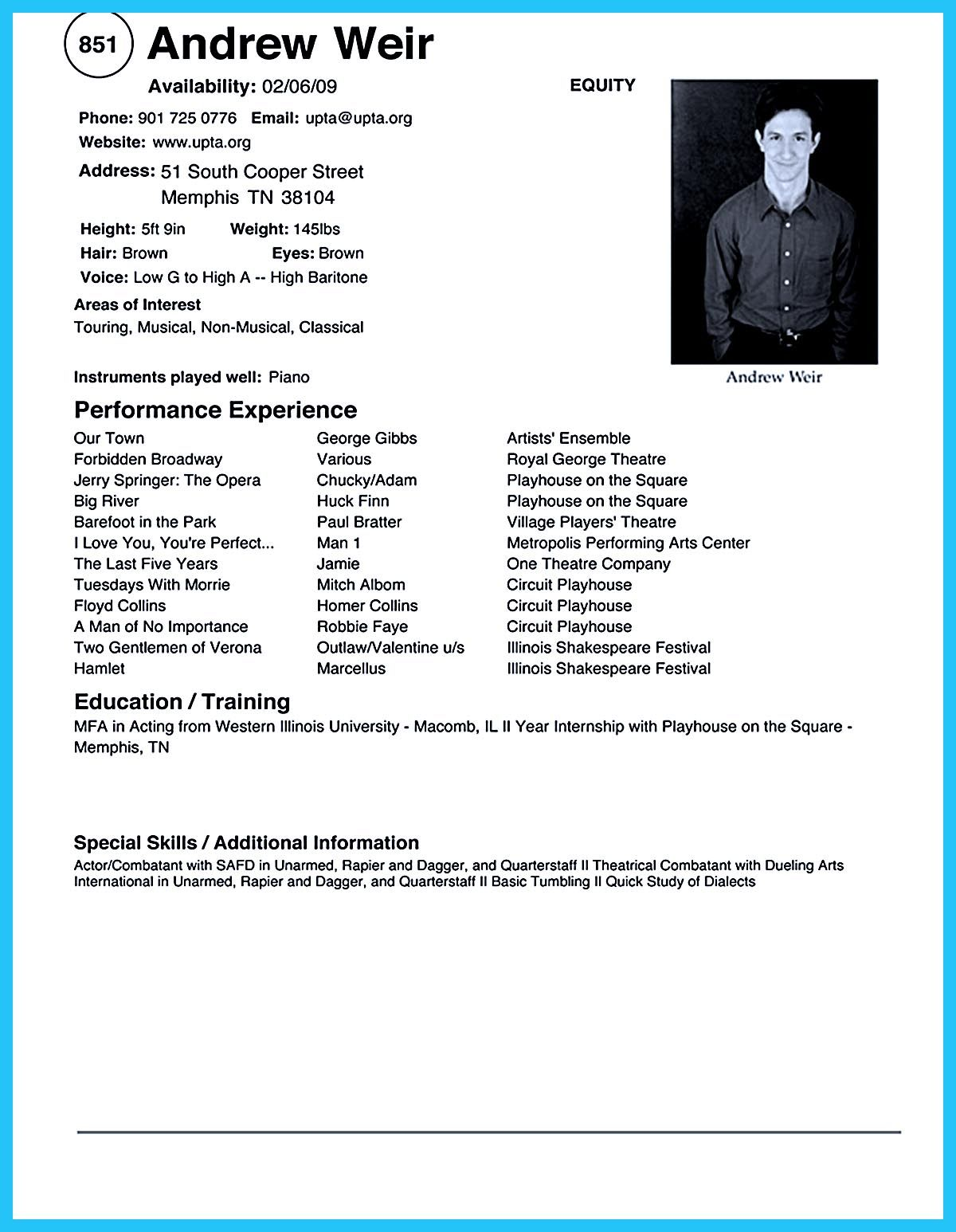 acting resume sample presents your skills and strengths in details the objective summary Resume Skills And Strengths For Resume