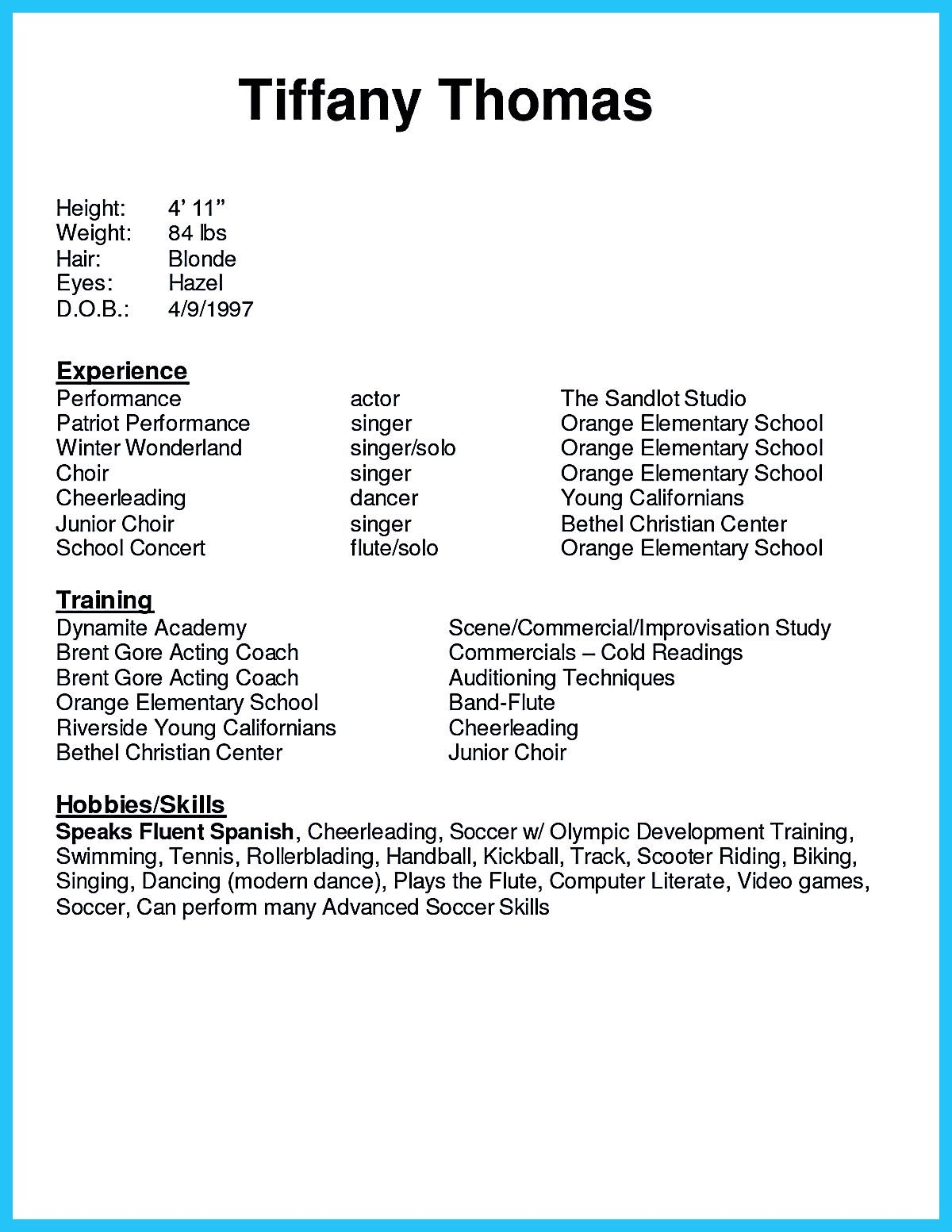 acting resume sample presents your skills and strengths in details the objective template Resume Skills And Strengths For Resume
