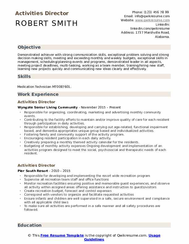 activities director resume samples qwikresume pdf cio template word accounts payable Resume Activities Resume Samples