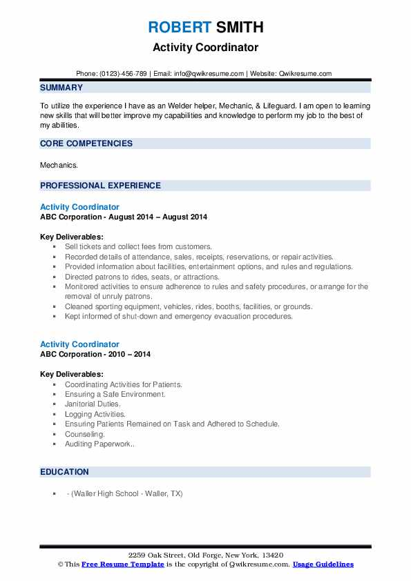 activity coordinator resume samples qwikresume example of for criminology pdf oracle Resume Example Of Resume For Criminology