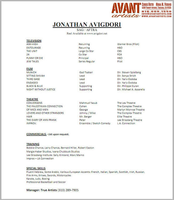 actor resume nancy chartier studios examples of special skills for acting fake polishing Resume Examples Of Special Skills For Acting Resume