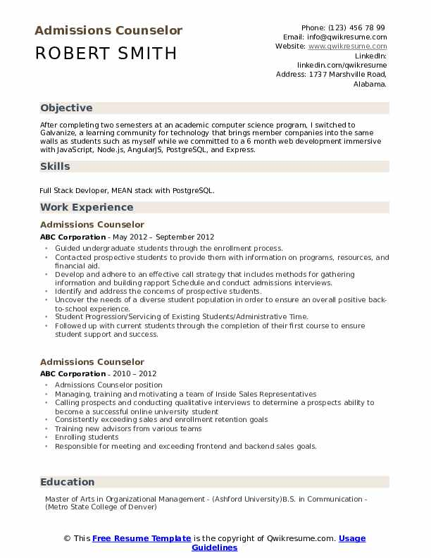 admissions counselor resume samples qwikresume format for university admission pdf first Resume Resume Format For University Admission