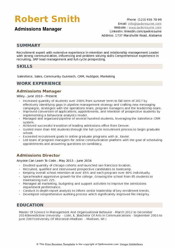 admissions manager resume samples qwikresume format for mba admission pdf pizza hut job Resume Resume Format For Mba Admission