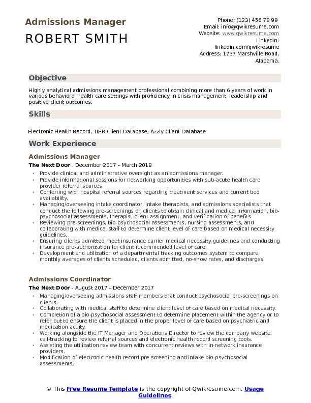 admissions manager resume samples qwikresume format for mba admission pdf rabbit of rei Resume Resume Format For Mba Admission