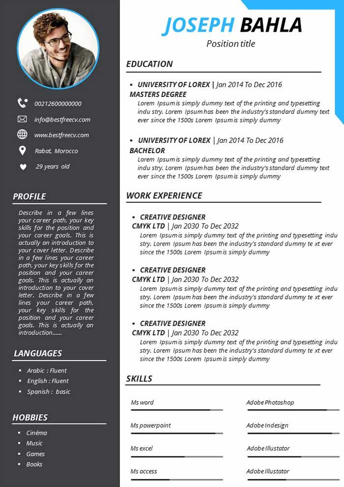 all free resume templates and easily downloaded cv indian format for teacher help umn slp Resume Free Resume Templates 2020 Download