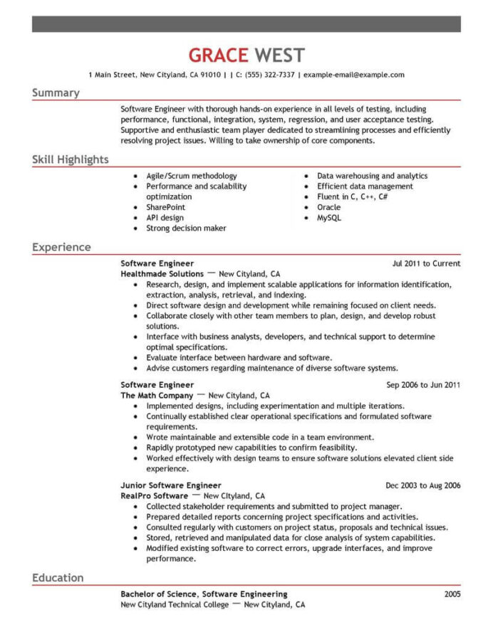 amazing it resume examples livecareer preparation for experienced software engineer Resume Resume Preparation For Experienced Software Engineer