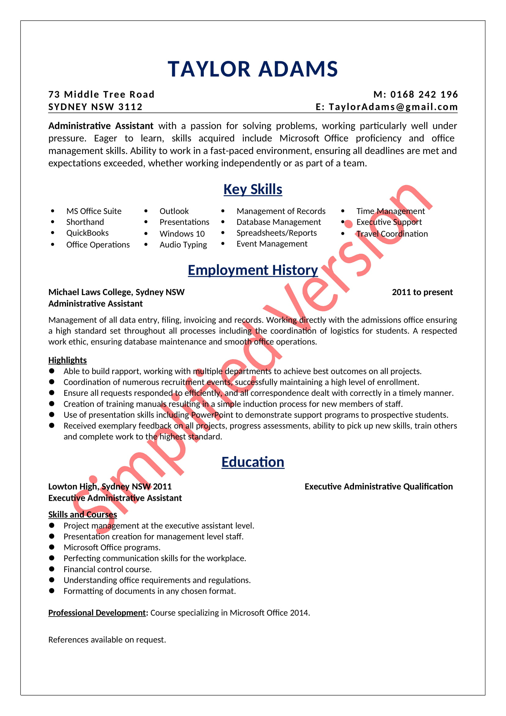 an administrative assistant resume sample absolutely free summary example for sv college Resume Resume Summary Example For An Administrative Assistant