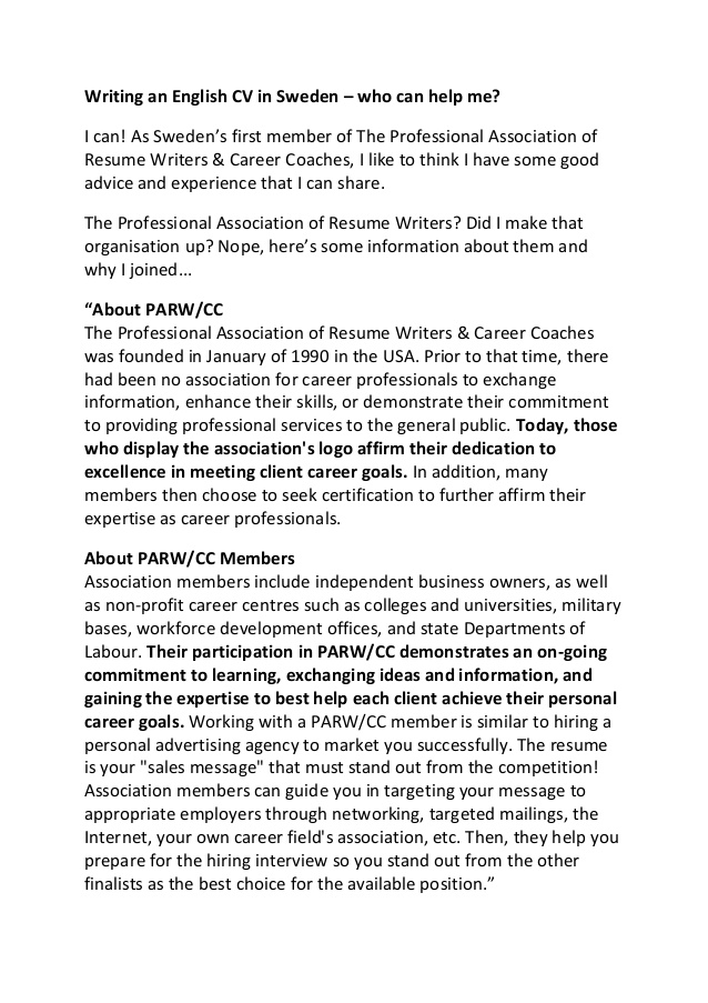 an english cv in professional association of resume writers free warehouse logistics Resume Professional Association Of Resume Writers