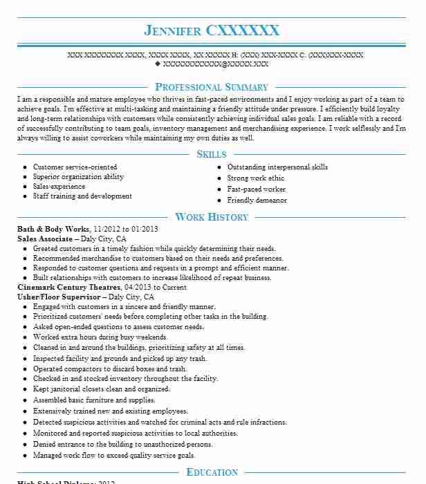 and body works resume example cashier associate humble job description for format food Resume Bath And Body Works Job Description For Resume