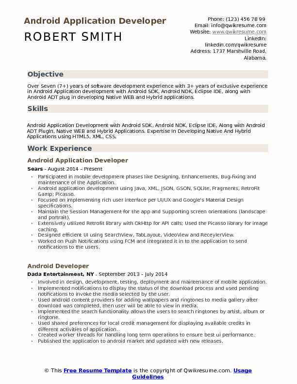 android application developer resume samples qwikresume years experience pdf mechanical Resume Android Developer Resume 1 Years Experience