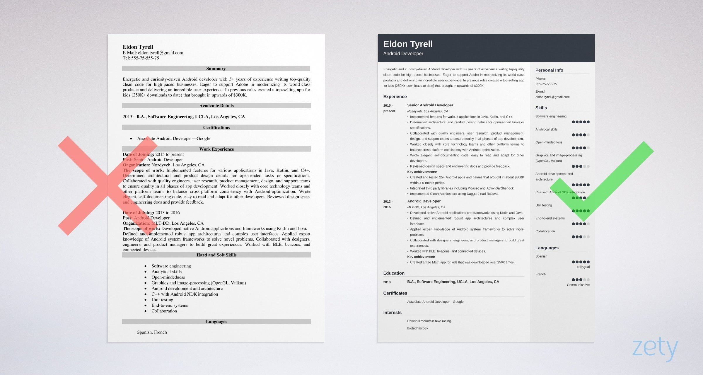 android developer resume sample guide tips years experience example relationship building Resume Android Developer Resume 1 Years Experience