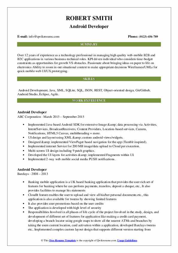 android developer resume samples qwikresume years experience pdf boilermaker cover letter Resume Android Developer Resume 1 Years Experience
