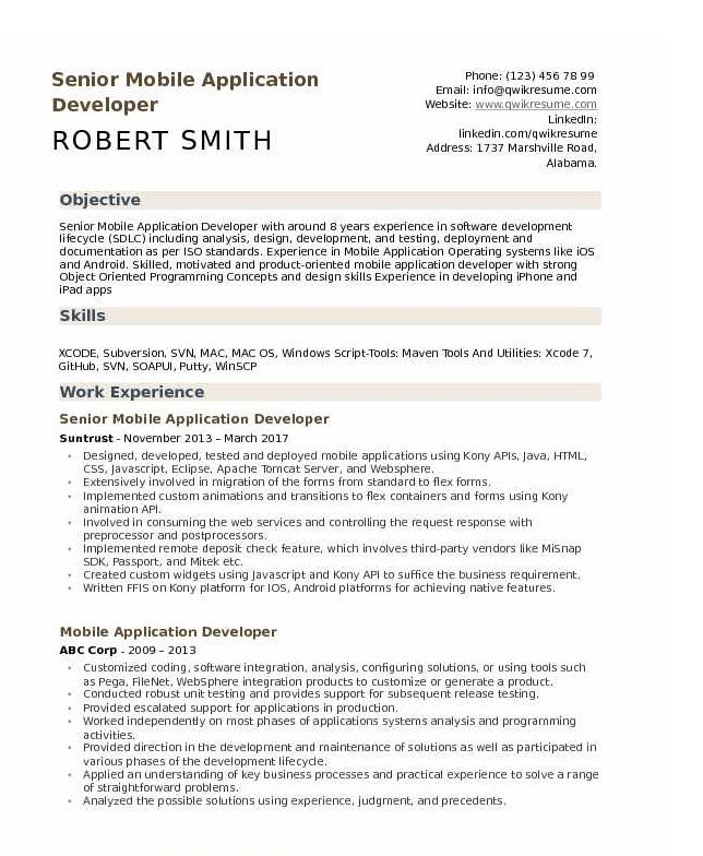 android developer resume tips and templates years experience example template samples Resume Android Developer Resume 1 Years Experience