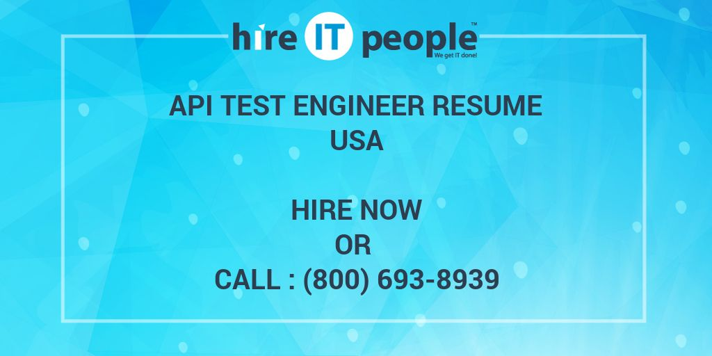 api test engineer resume hire it people we get done soapui testing points food and Resume Soapui Testing Resume Points