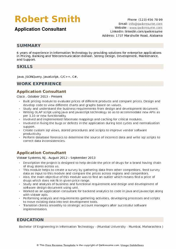 application consultant resume samples qwikresume example pdf does have an accent database Resume Example Resume Application