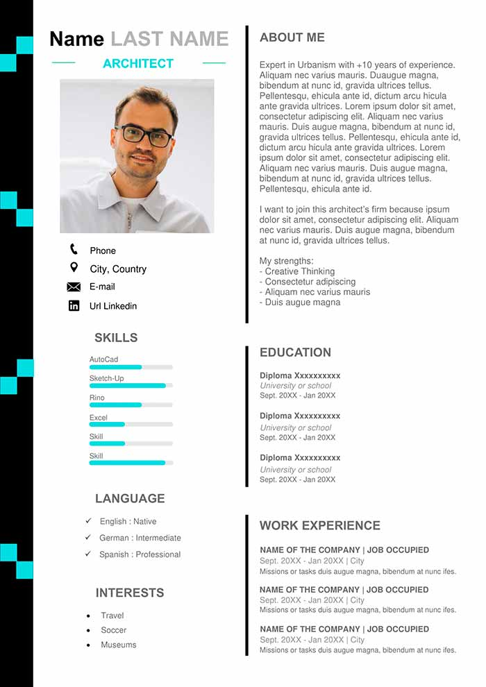 architecture resume example free design template curriculum vitae good bullet points for Resume Architecture Resume Template