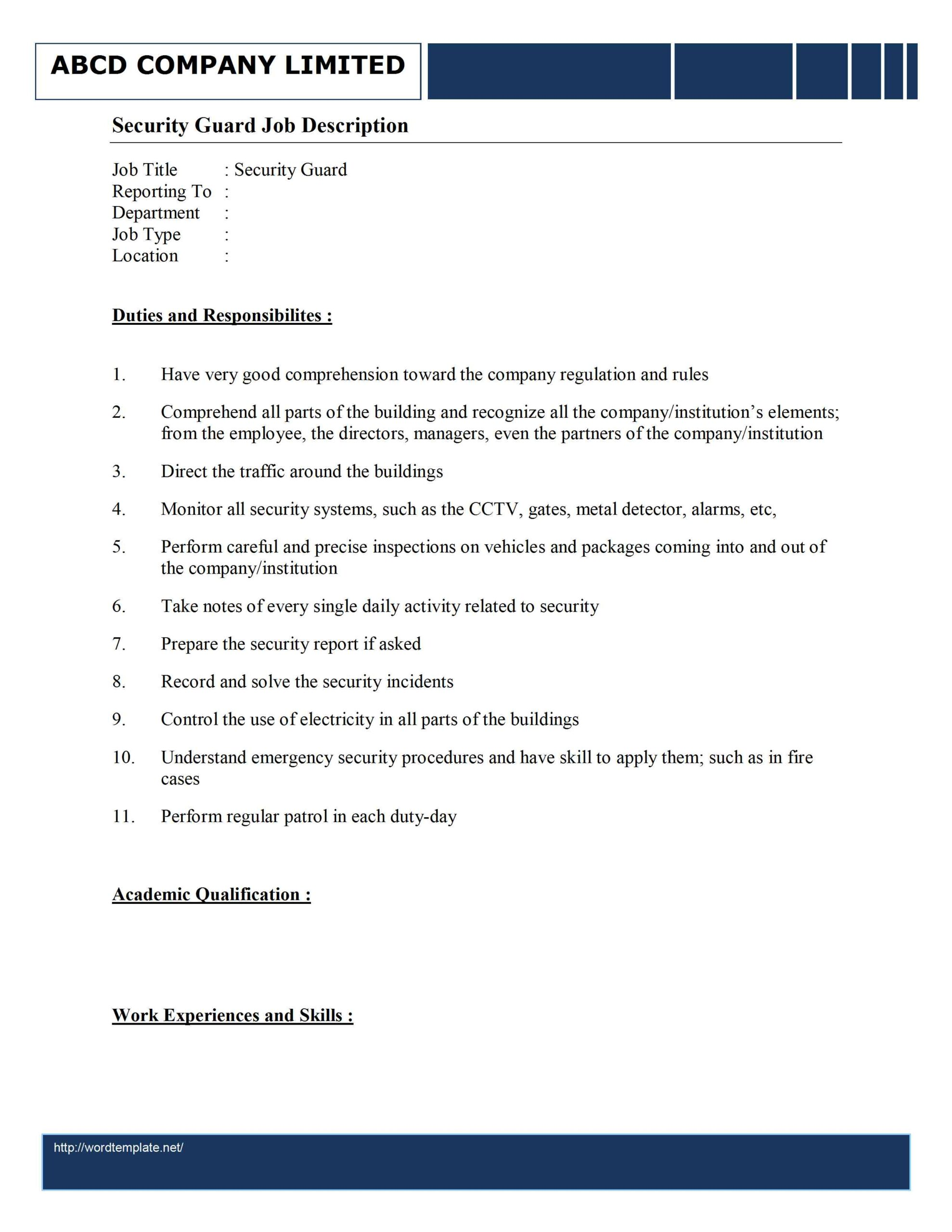 are the duties of security guard mryn ism officer job resume description audition and Resume Security Officer Job Duties Resume