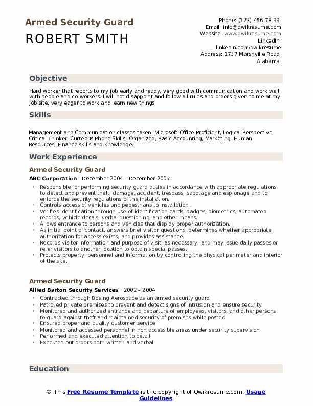 armed security guard resume samples qwikresume job description pdf writing services Resume Security Job Description Resume