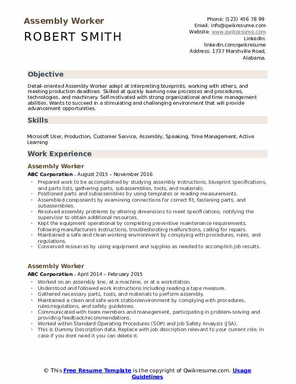 assembly worker resume samples qwikresume detail oriented skills on pdf can you export Resume Detail Oriented Skills On Resume