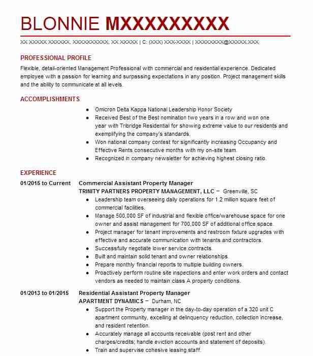 assistant commercial property manager resume example black lion investment group covina Resume Assistant Property Manager Resume