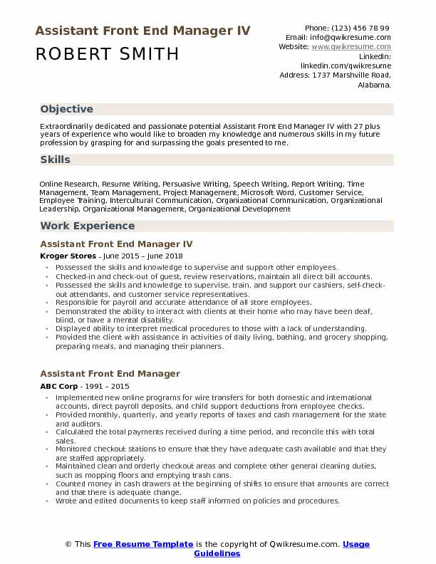 assistant front end manager resume samples qwikresume of microsoft employee pdf paperboy Resume Resume Of Microsoft Employee