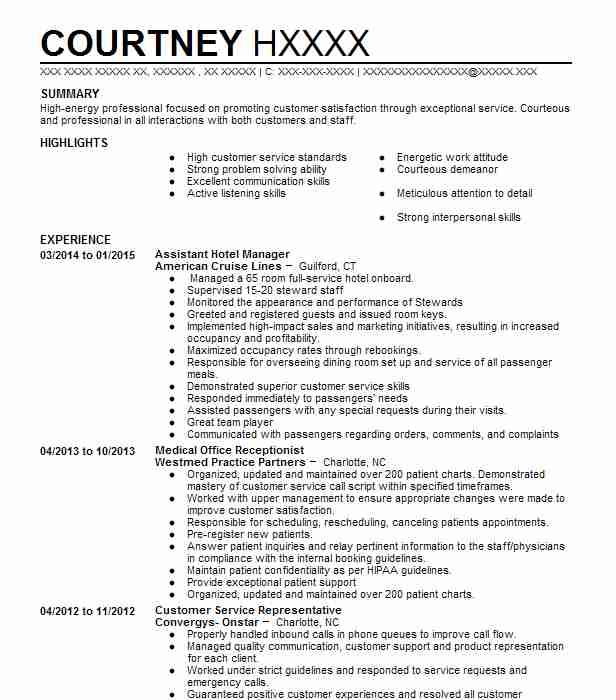 assistant hotel manager resume example resumes livecareer word format remote job graduate Resume Hotel Manager Resume Word Format