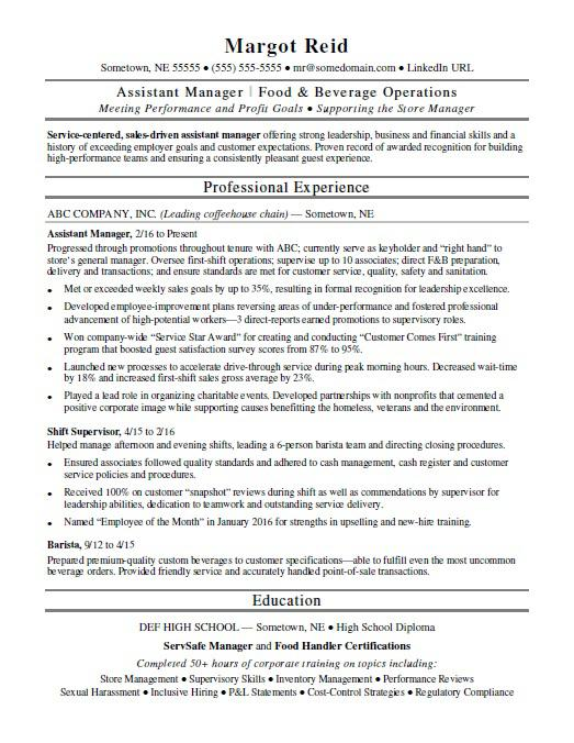 assistant manager resume monster sample nicu galley steward career objective for year Resume Assistant Manager Resume Sample
