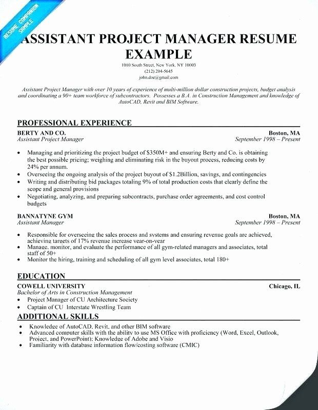 assistant project manager resume lovely construction guatemalago in job samples overleaf Resume Assistant Project Manager Construction Resume